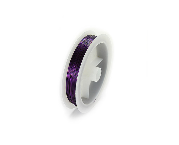 109 yards/100 meters Purple 26 gauge wire spool