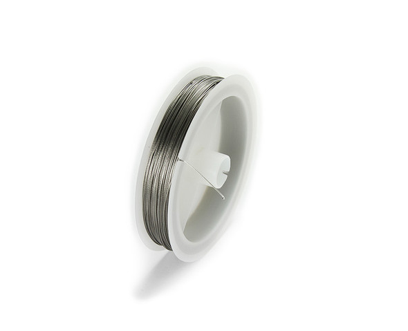 109 yards/100 meters Silver 26 gauge wire spool