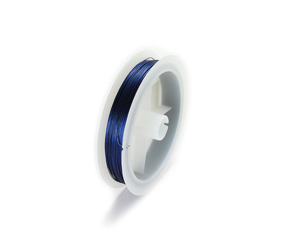 109 yards/100 meters Blue 26 gauge wire spool