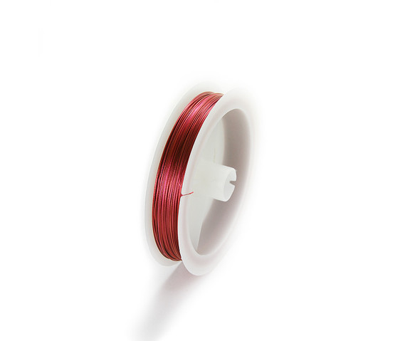 109 yards/100 meters Orange/red 26 gauge wire spool