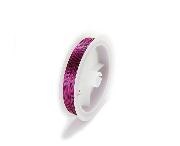 109 yards/100 meters Fuchsia pink 26 gauge wire spool