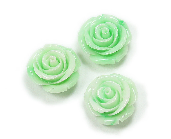 25mm Pack Of 3 Mint Green Acrylic Bulb Flower Pendant