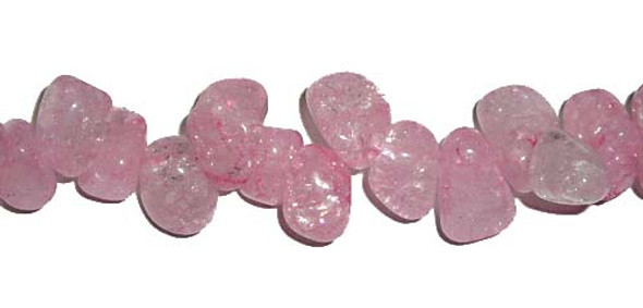 8x12mm Crystal teardrop beads, pink color