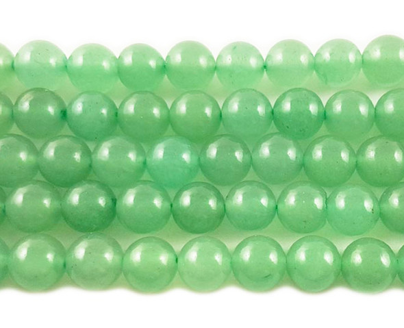 8mm Natural Green Aventurine Round Beads