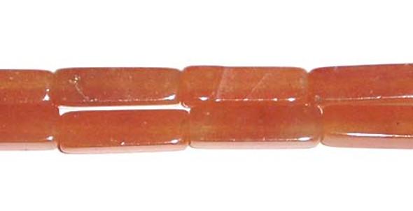 4x13mm Red aventurine long cube beads