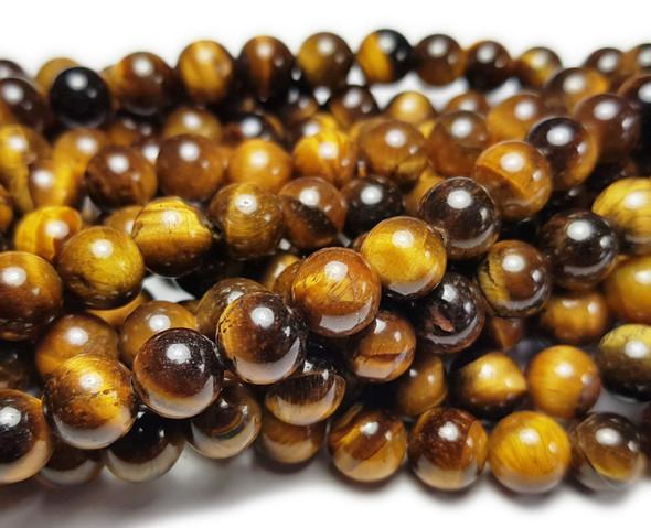 12mm Tiger Eye Round Beads