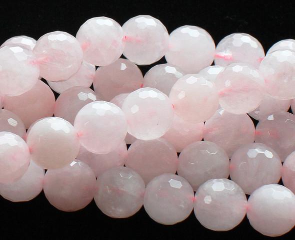 6mm Rose Quartz Faceted Round Beads