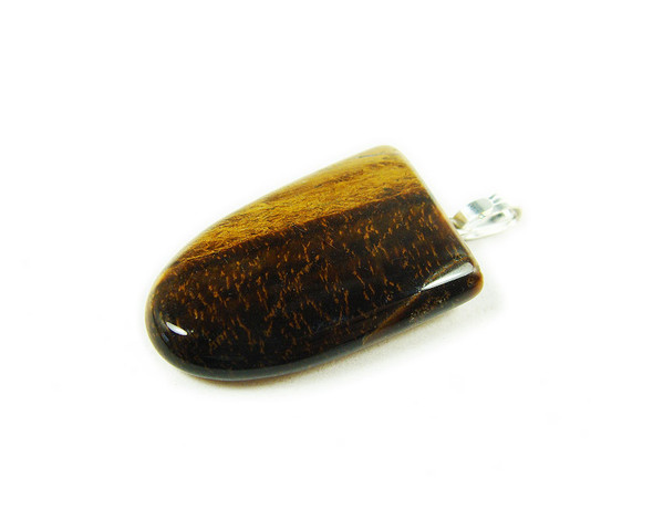 15x20mm  pack of 5 Tiger eye squared oval pendant