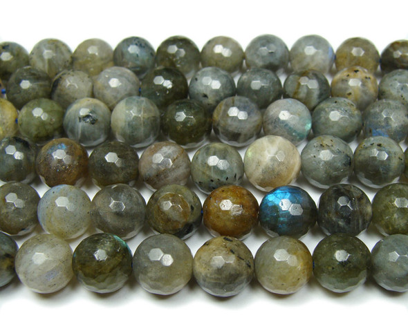 10mm Labradorite Faceted Round Beads