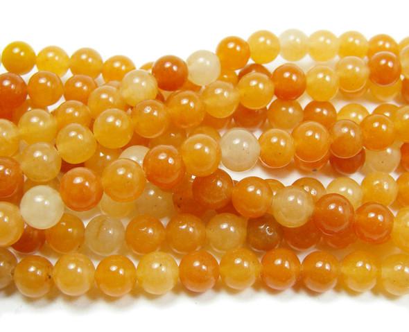 6mm Red aventurine round beads