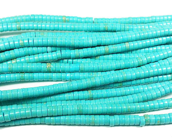 2x4mm  16 inches Turquoise howlite heishi beads