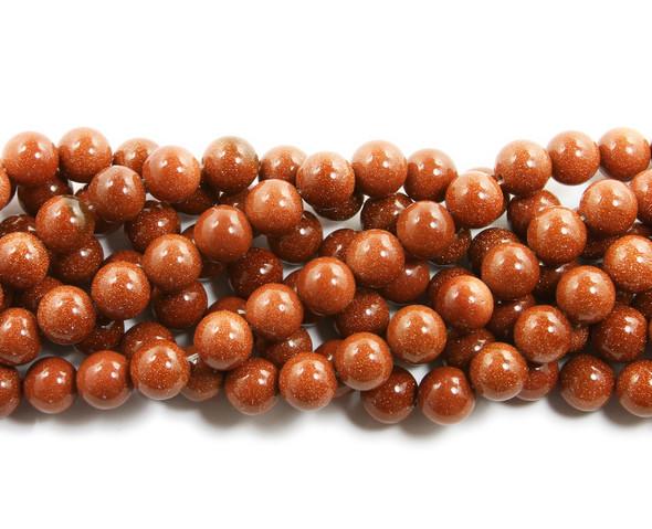 8mm Goldstone Round Beads
