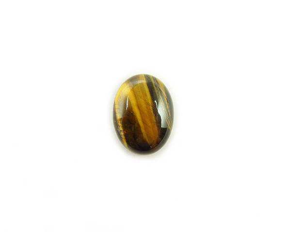 12x16mm Pack Of 5 Tiger Eye Small Oval Cabochon