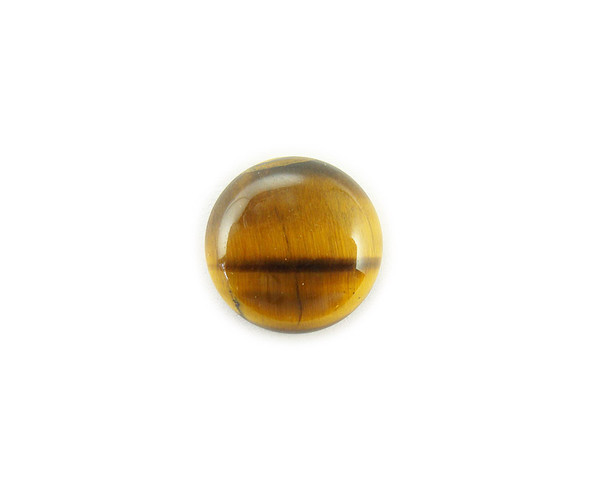 15mm Pack Of 5 Tiger Eye Round Cabochon
