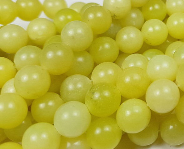 6mm Olive Jade Round Beads