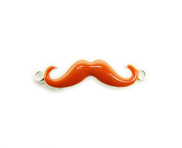 8x35mm  pack of 6 Orange with silver metal mustache connector