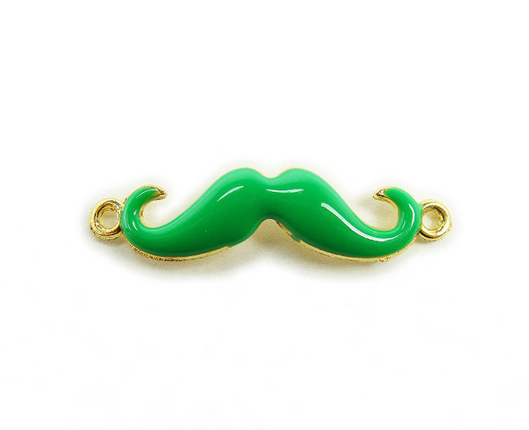 8x35mm  pack of 6 Green with gold metal mustache connector
