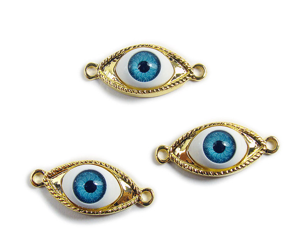 10x30mm  pack of 2 Gold third eye metal connector