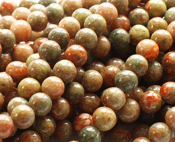 6mm Pink jasper round beads