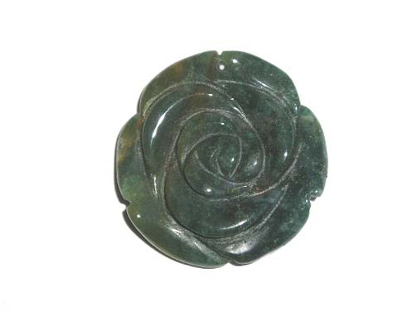 40mm Indian agate flower pendant