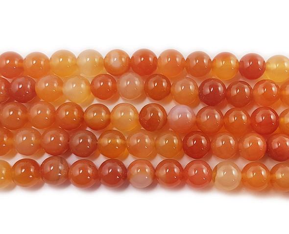 6mm Multi color carnelian round beads