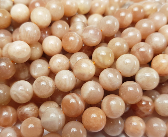 12mm Sunstone Smooth Round Beads