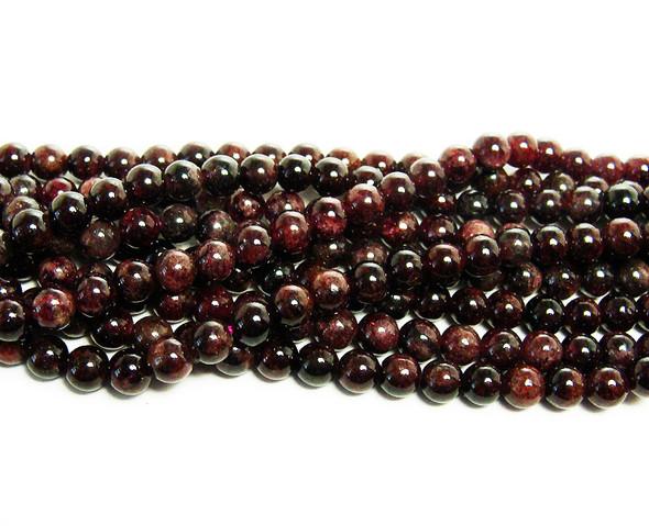 4mm Red garnet round beads