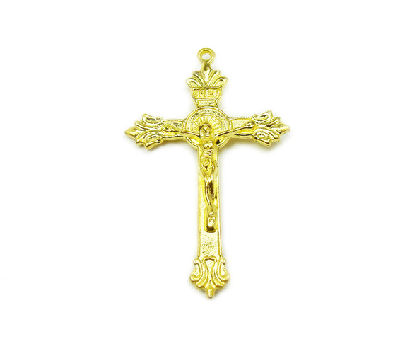 30x45mm Priced For Two Pieces Gold Plated Pewter Cross Pendant