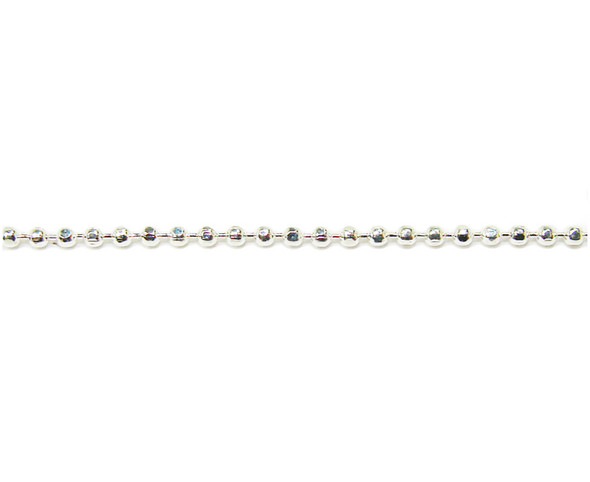 1mm links  3 ft section Silver plated diamond-cut ball chain