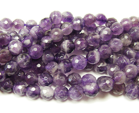 6mm Amethyst Faceted Round Beads
