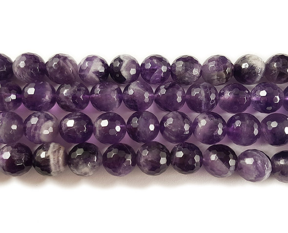 12mm Amethyst faceted round beads