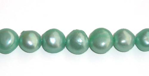 7x8mm Light blue-colored nugget pearls