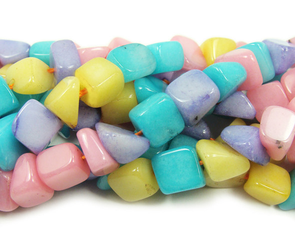 """7x9mm 16"""" Strand Multi Color Agate Nugget Beads"""
