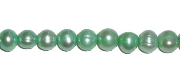 5.5-6mm Green potato pearls
