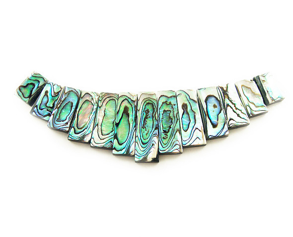 Approx. 120x30mm 13 Pieces Abalone Shell Stick Large Collar Pendant