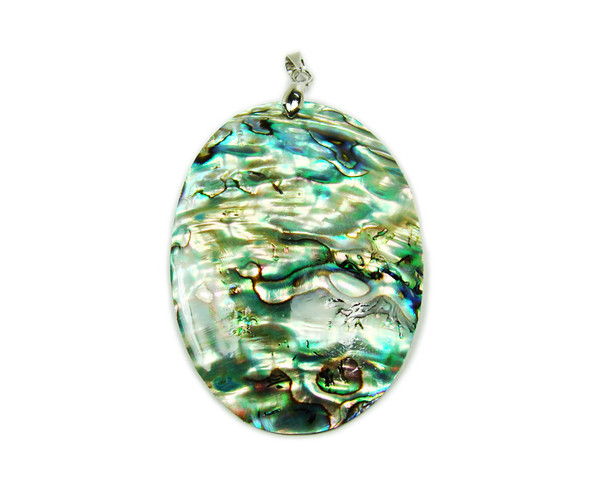 35x50mm Abalone Shell Oval Pendant