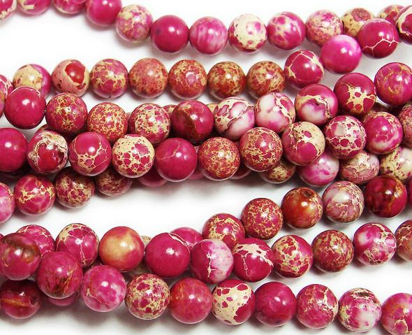 4mm Red Imperial Jasper Round Beads