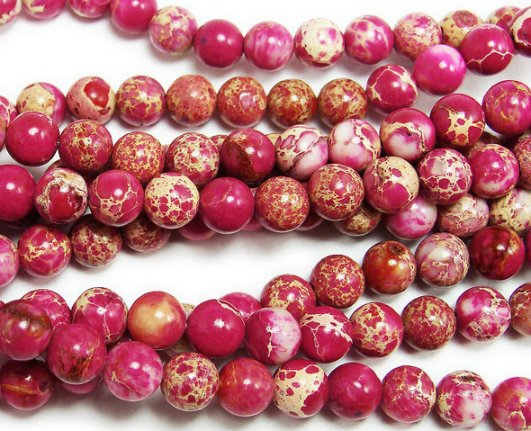 6mm Red Imperial Jasper Round Beads