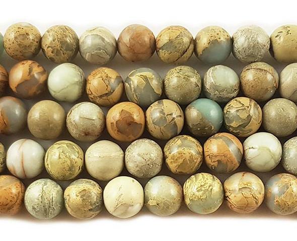 6mm Snake skin jasper round beads
