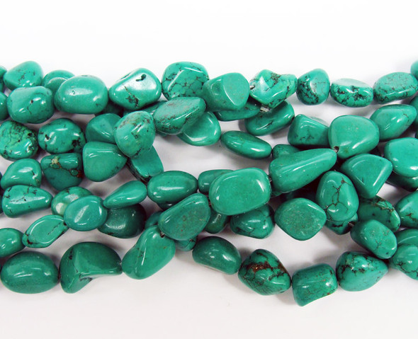 12x16mm Chinese turquoise nugget beads