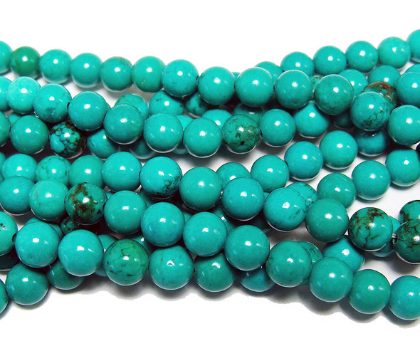 6mm Chinese turquoise round beads