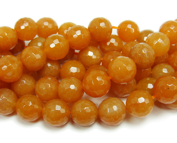 12mm  Red aventurine faceted round beads