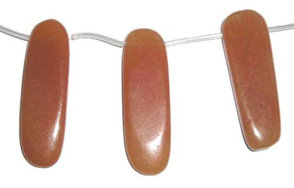 12x40mm  15 pieces Red aventurine flat sticks