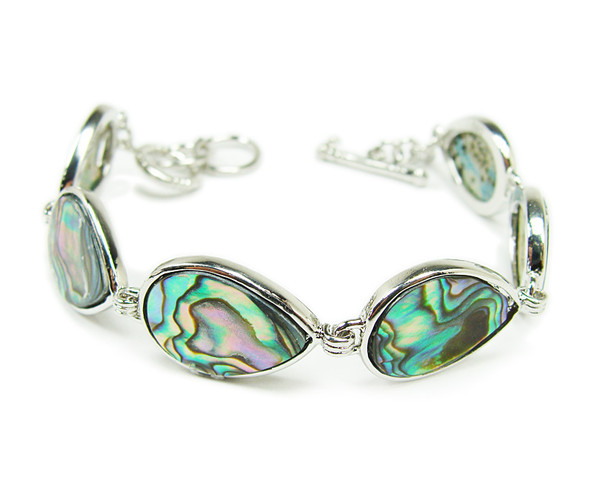 7.5 - 8.5 inches  teardrop Abalone shell fashion bracelet