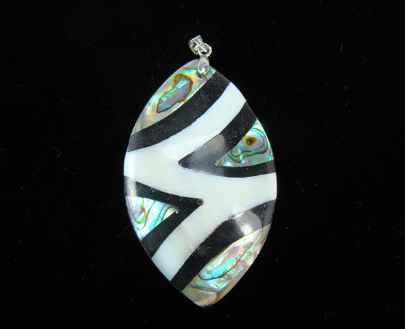 35x55mm Multi Shell Marquee Pendant With A Silver Bail