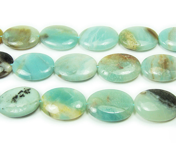12x16mm Multi amazonite natural oval beads