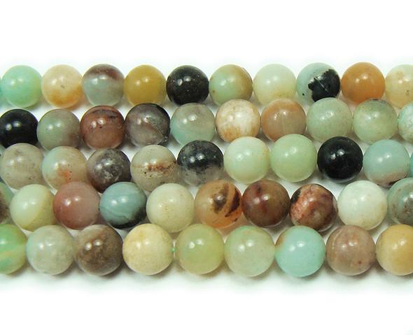 12mm Multi Amazonite Natural Round Beads