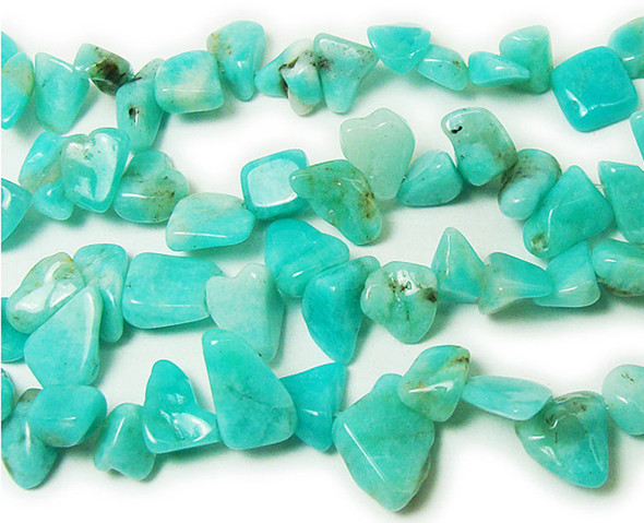8x10 - 10x12mm Amazonite Flat Free-Form Beads