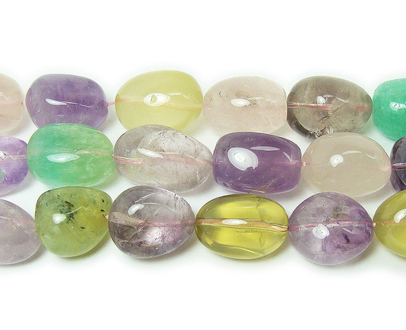 18x22mm Multi Stone Large Oval Beads