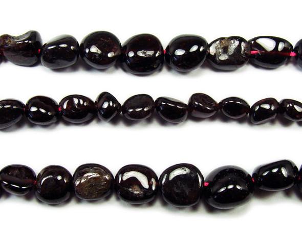 5x6mm to 10x12mm Garnet graduated nugget beads